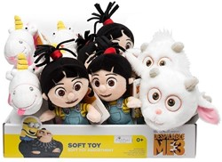 Despicable Me 3 Gift Agnes, Fluffy, Unigoat 3 assorti in display 16-20cm