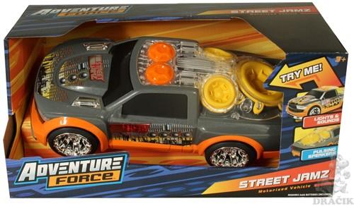 Street Jamz Adverture Force Auto met Licht en Geluid 15x31cm