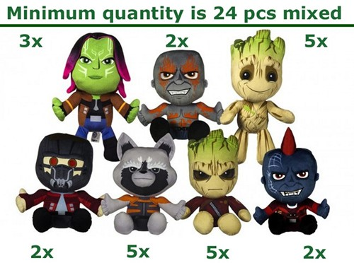 Guardians of the Galaxy pluche Gift 7 assorti 24/30cm
