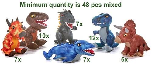 Jurassic World 6 assorti 28cm