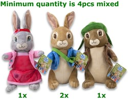 Peter Rabbit & Friends 3 assorti 28cm