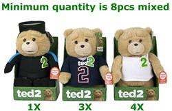 Ted Pluche met geluid 3 assorti 28cm