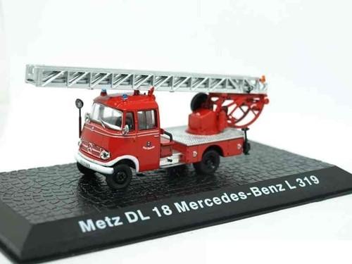 """Brandweerwagen Die-Cast 1:72 """"Metz DL 18 Mercedes-Benz L 319"""" 10cm (Verzendverpakking ingedeukt, item onbeschadigd)"""