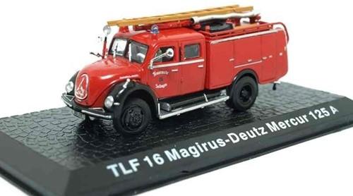 """Brandweerwagen Die-Cast 1:72 """"TLF 16 Magirus-Deutz Mercur 125A"""" 9cm (Verzendverpakking ingedeukt, item onbeschadigd)"""