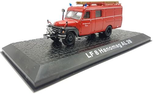 """Brandweerwagen Die-Cast 1:72 """"LF8 Hanomag AL28"""" 9cm (Verzendverpakking ingedeukt, item onbeschadigd)"""