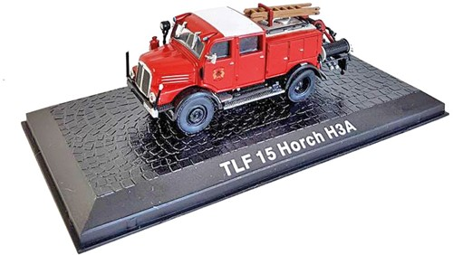 "Brandweerwagen Die-Cast 1:72 ""TLF15 Horch H3A"" 9cm (Verzendverpakking ingedeukt, item onbeschadigd)"
