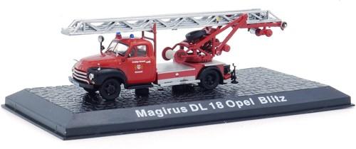 """Brandweerwagen Die-Cast 1:72 """"Magirus DL18 Opel Blitz"""" 11cm (Verzendverpakking ingedeukt, item onbeschadigd)"""