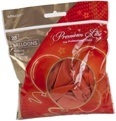 Ballonnen Latex Oranje Parelmoer 25 stuk