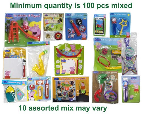 Peppa Pig Mix toys 10 assorti 100stuks