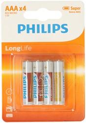 Philips Longlife R03 AAA 4 stuks