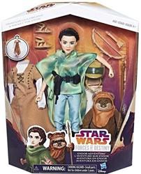 Disney Star Wars The Forces of Fate Action-poppen met accessoires Lea en Ewok