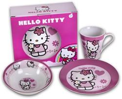 Ontbijtset Hello Kitty 3 delig keramisch