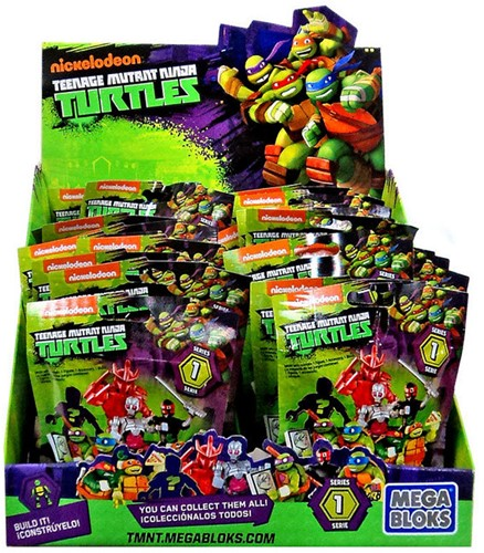 Blind Bag Mega Bloks Ninja Turtles Serie2 in display