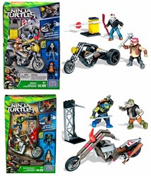 Mega Bloks Teenage Mutant Ninja Turtles  Moto Attack assorti