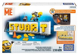Mega Bloks Despicable Me Stuart Name Builder 20x30cm