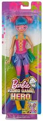 Barbie spelheldin met kleurrijk haar en bril