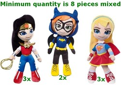 DC Super Hero Girls Pluche 25cm 3 assorti in display