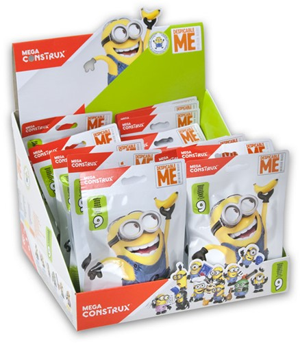 Blind Bag Mega Construx Despicable Me Serie 9 in display