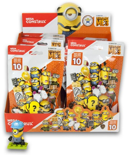 Blind Bag Mega Construx Despicable Me 3  serie 10 in display
