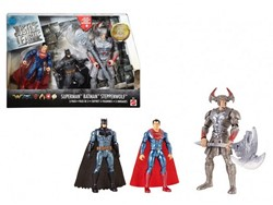 DC Comics Figuren 3-Pack, Superman Batman Steppenwolf 20cm