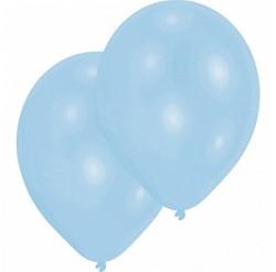 """Ballonnen Latex Lichtblauw Parelmoer 25 stuks 11""""/27,5cm"""