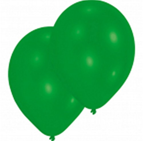 "Ballonnen Latex Groen Parelmoer 25 stuks 11""/27,5cm"
