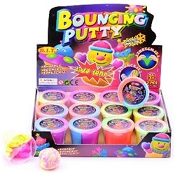 Bouncing duo putty neon kleuren in displ