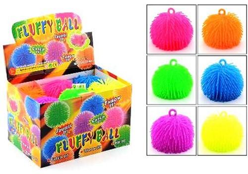 Funtoy 14cm fluffy ball 6 assorti