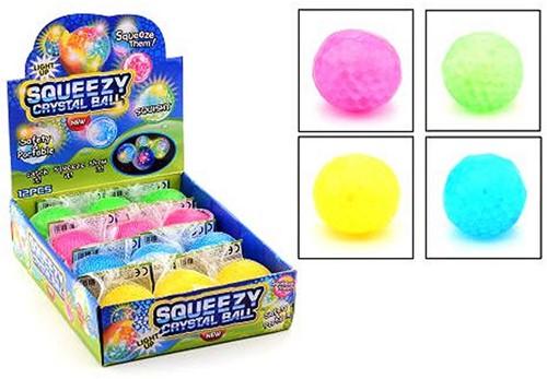 Squeezy Kristal bal met licht4 assorti