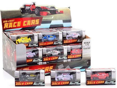 Raceauto1:72indisplay,6assorti