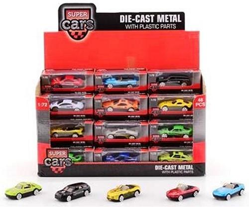 SuperCars2.6inchdie-castauto12assortiindisplay