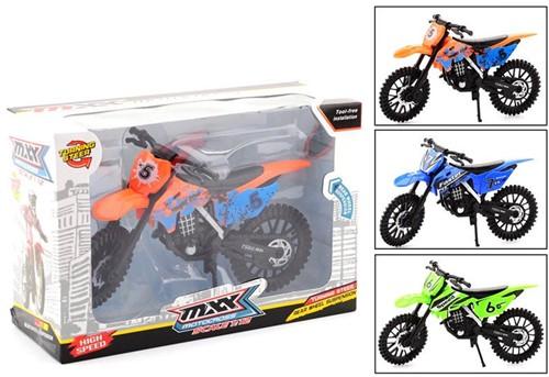 Dirtbike in doos 3 assorti