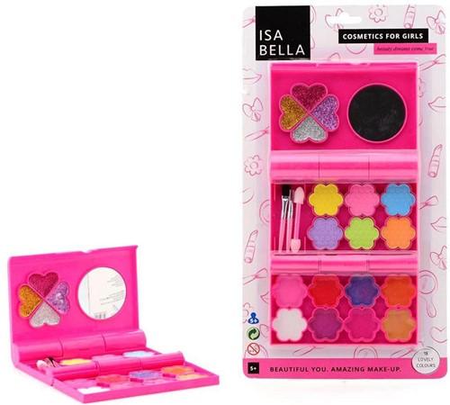 Isabella make-up doos op kaart 17,5x32,5cm