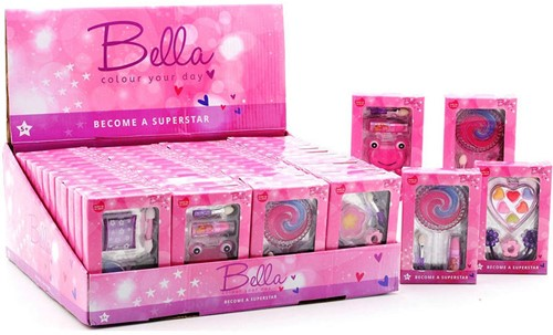 Bella make-up set in display 6 assorti 8x12cm