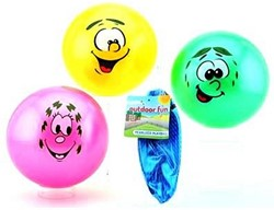 Outdoor Fun Speelbal Smiley 85 gram 4 assorti