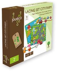 Jouéco® - Rijgset Stad / Boerderij