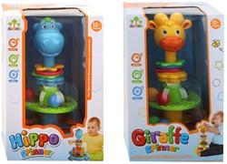 Baby Spinner Giraffe / Hippo 12m+ 2 assorti