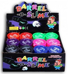 Slime In Barrel assorti Kleur12st. In Display