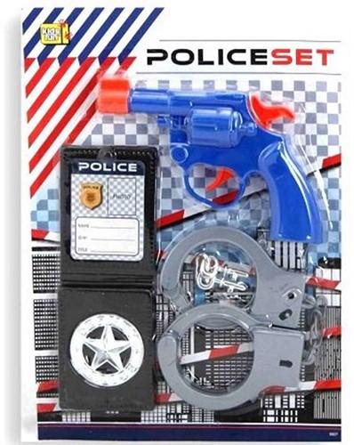 Politieset 4 delig op blisterkaart 28,5x20,5x2cm