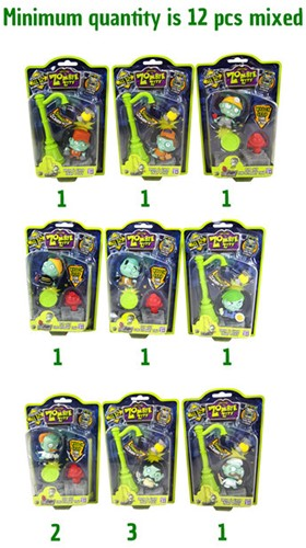 Zombie Zity - Trap Packs 6 assorti