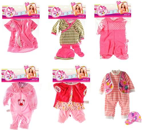 Kleding voor Babypop 20-30cm Cute Baby 6 assorti