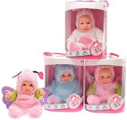Babypop met dierenpak Cute Baby 22,5cm