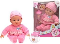 Babypop met fles Cute Baby 2 assorti 30cm