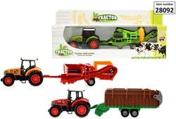 Die-Cast Tractor met Oogst aanhanger 3 a