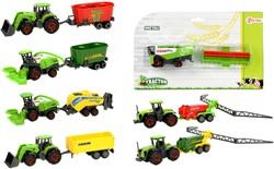 DIECAST landbouwvoertuig + aanhanger 7 a