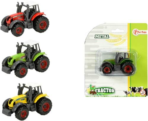 DIECAST Boerderij tractor 4 assorti 12x14cm