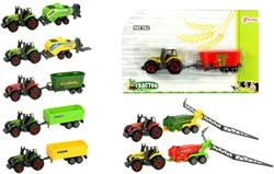 DIECAST Tractorset 8 assorti