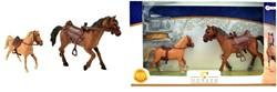 Paarden 2 stuks met accessoires