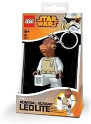 Lego Star Wars Mini LED-zaklamp met sleutelhanger Admiral Ackbar