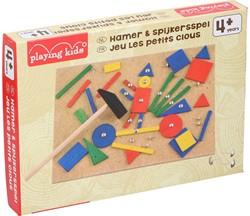 Houten Hamer & Spijkerspel 24x17x15cm